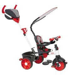 4-in-1 Trike Ride On, Red/White, Sports Edition