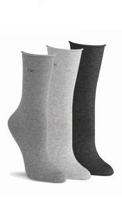 Calvin Klein Roll top 3 pair pack ankle socks