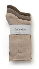 Calvin Klein 3 Pair pack roll top socks