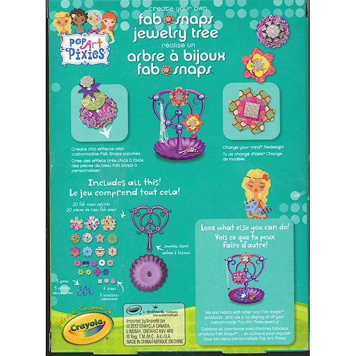 Crayola Pop Art Pixies Fab Snaps Jewelry Tree