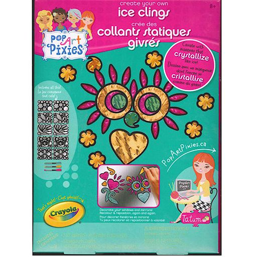 Crayola Pop Art Pixies Ice Clings