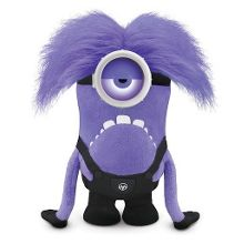 2 purple minion soft toy