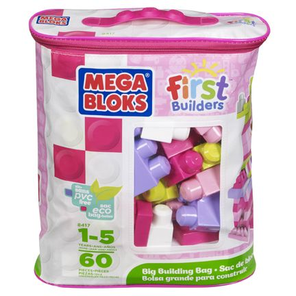 Mega Bloks Big building bag 60pcs Pink