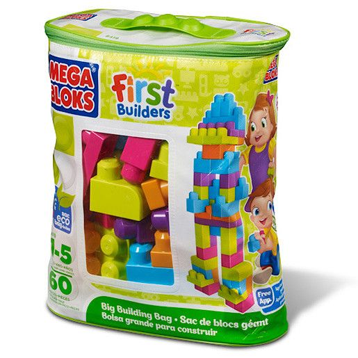 Mega Bloks First builders big building bag green