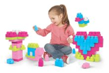 Mega Bloks Mega bloks first builders 100 block set - pink