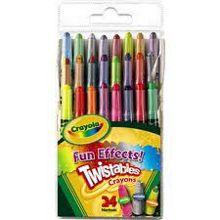 Crayola 24 mini twistable SFX crayons