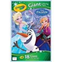 Disney Frozen Crayola giant 18 colouring pages