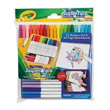 Supertips washable markers & sketchbook