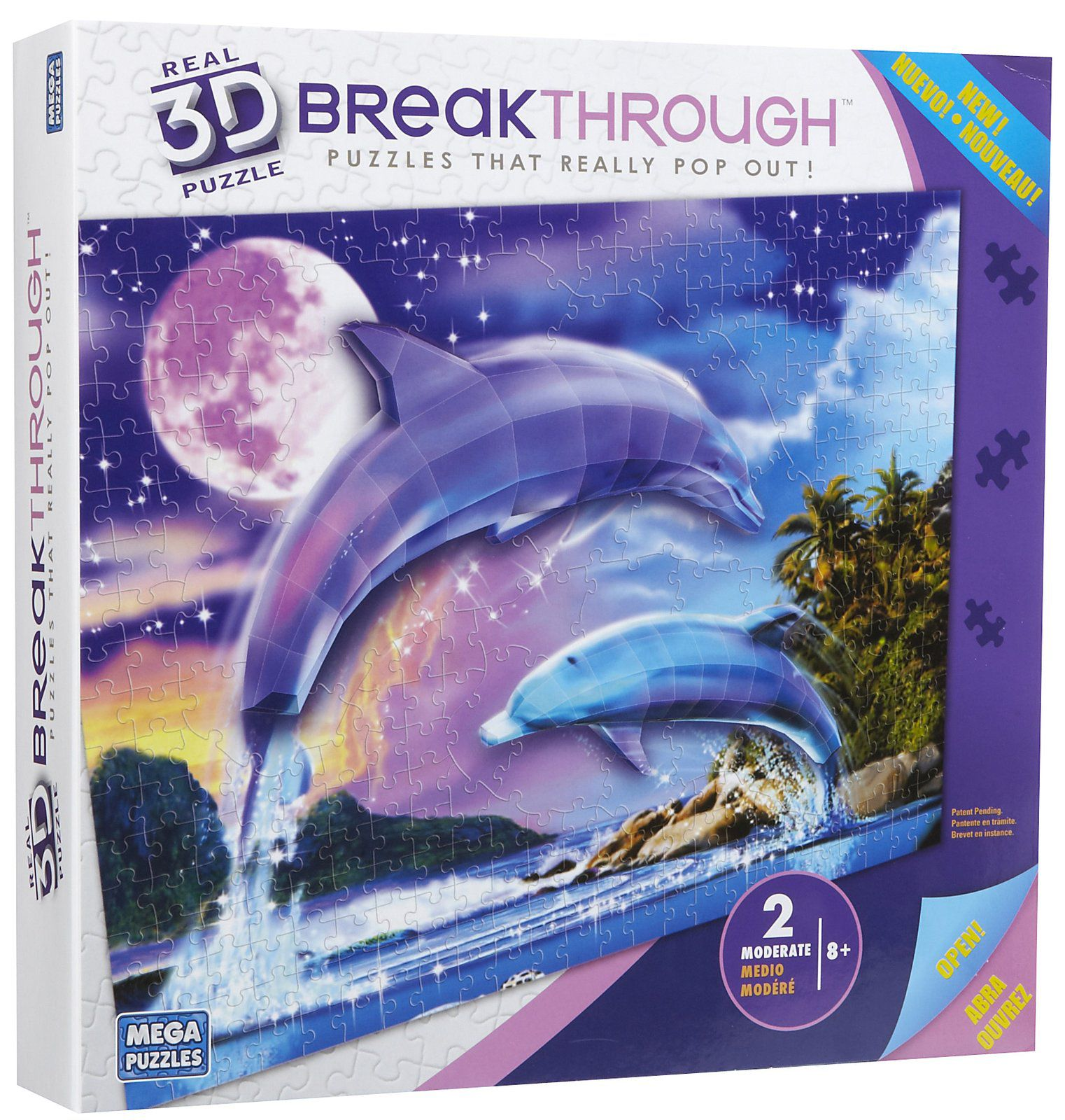 200pc 3D Breakthrough Dolphins Puzzle