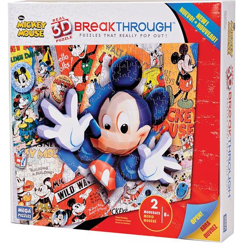 200pc 3D Breakthrough Mickey Mouse Puzzle