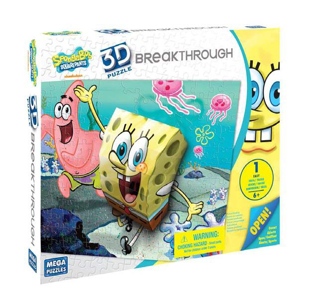 200pc 3D Breakthrough Spongebob Puzzle