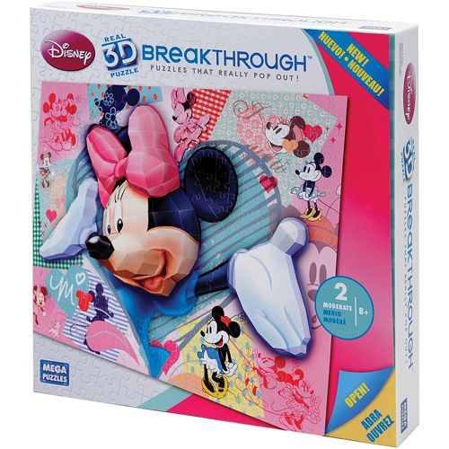 200pc 3D Breakthrough Minnie Mouse Puzzle