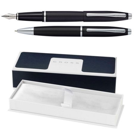 Cross Calais matt ball pen & fountain pen set