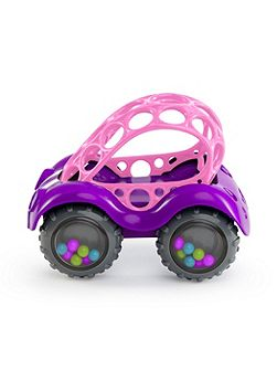 Oball Rattle & Roll Pink Buggy Vehicle