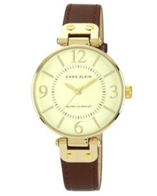 Anne Klein Anne Klein Brown Leather Watch