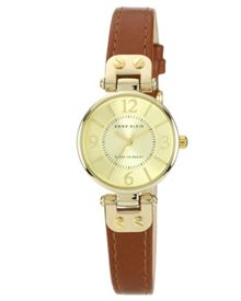 Anne Klein Womens Leather Strap Watch