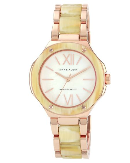 Anne Klein Horn Resin Watch