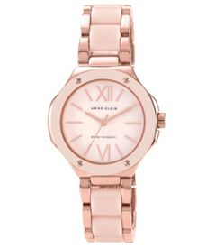 Anne Klein Pink Resin Watch