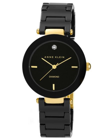 Anne Klein Black Ceramic Watch