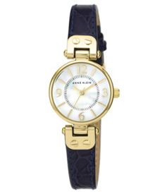 Anne Klein Navy Leather Watch
