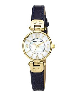 Navy Leather Watch