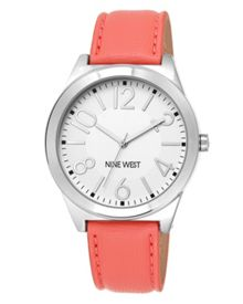 White Leather Watch