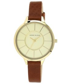 Anne Klein Brown Leather Watch