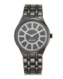 Nine West Grey bracelet grey dial silver watch