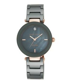 Anne Klein Alice Watch in Grey Ceramic