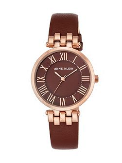 Burgundy and rose gold claire watch