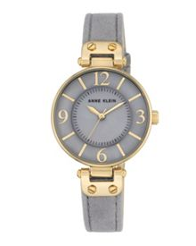 Anne Klein Grey and gold chelsea watch