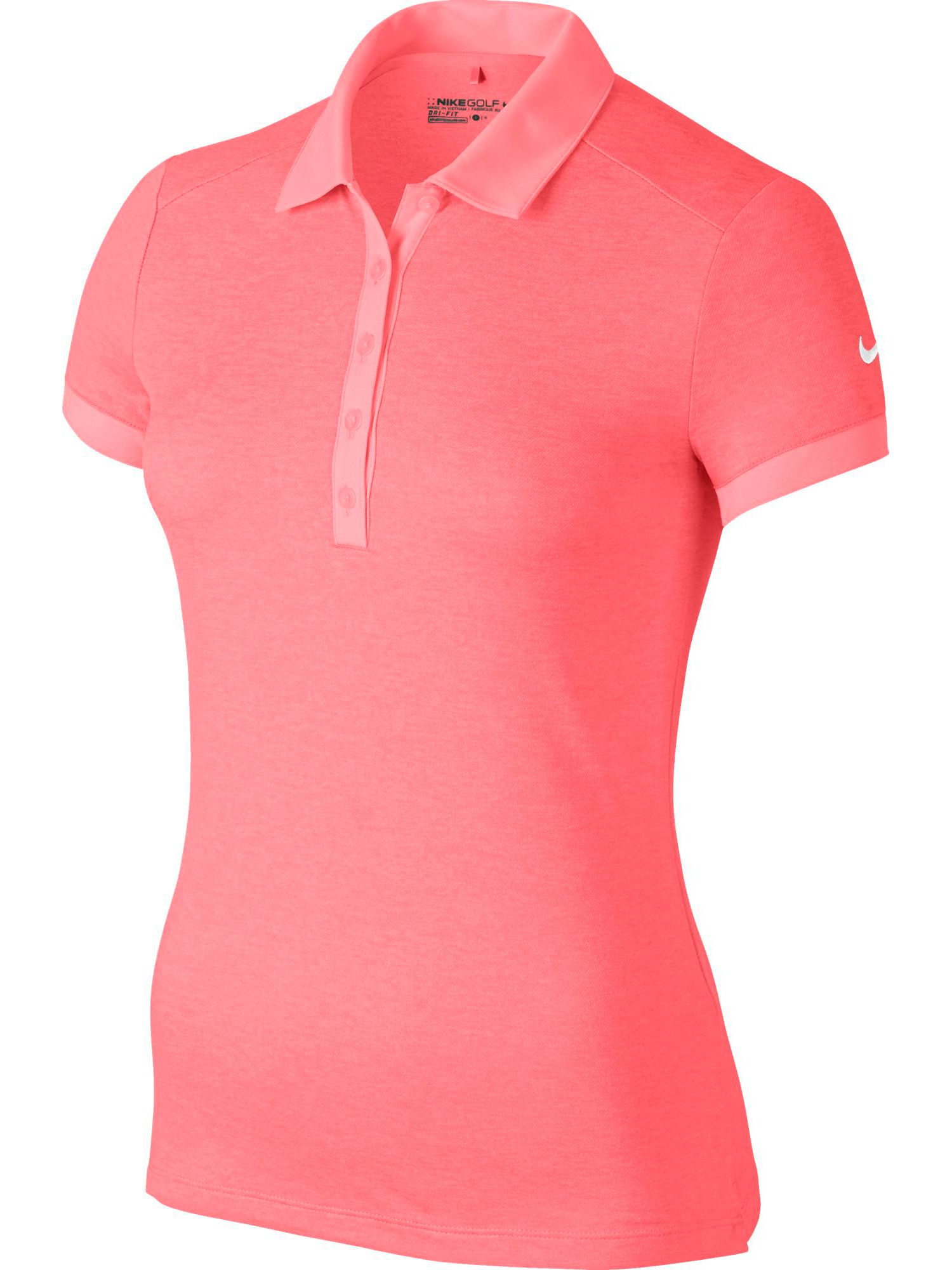 Nike Golf Icon Heather Golf Polo, Pink