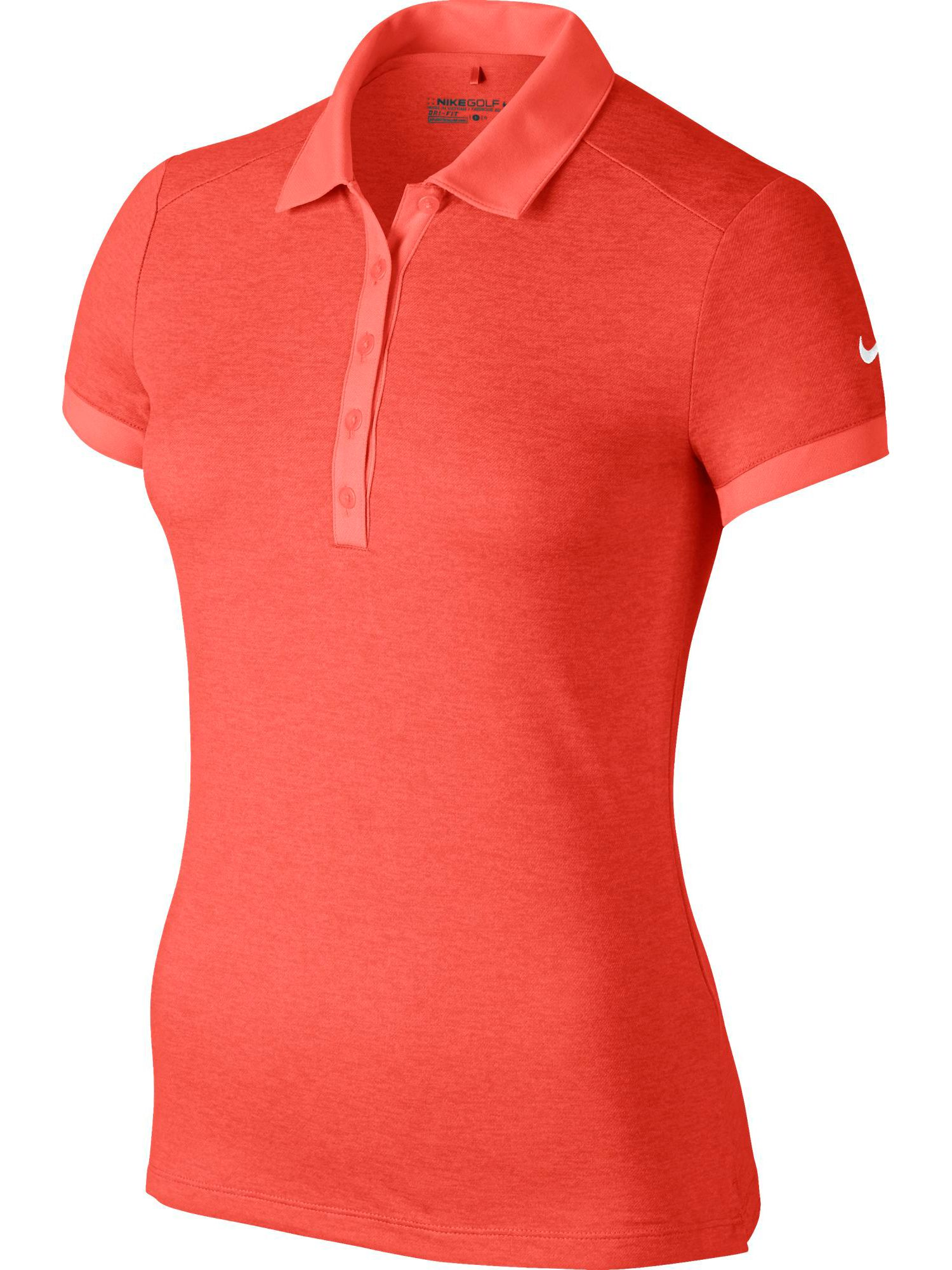 Nike Golf Icon Heather Golf Polo, Orange