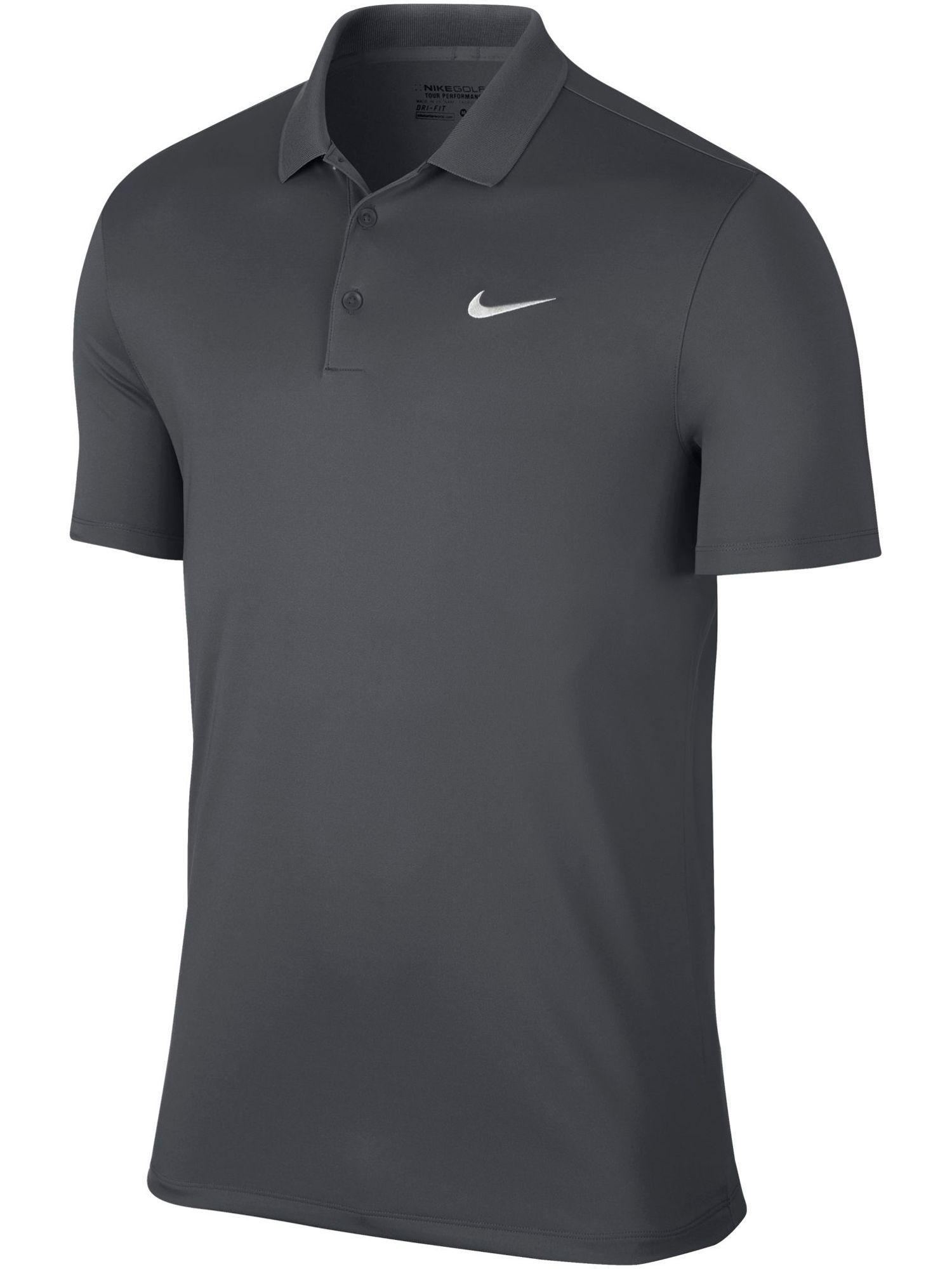 Men's Nike Golf Victory Solid Polo, Mid Grey