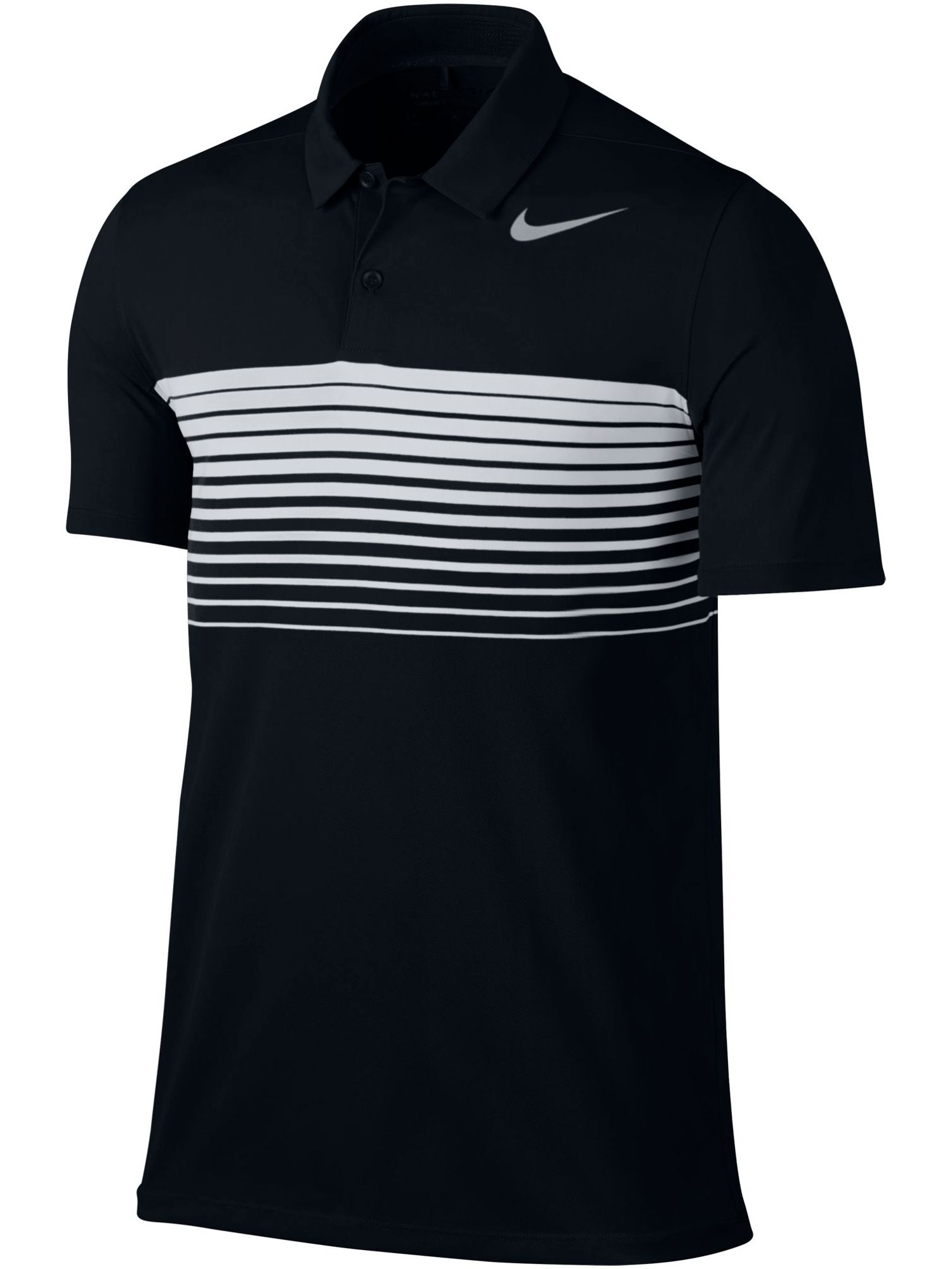 Men's Nike Mobility Speed Stripe Polo, Black