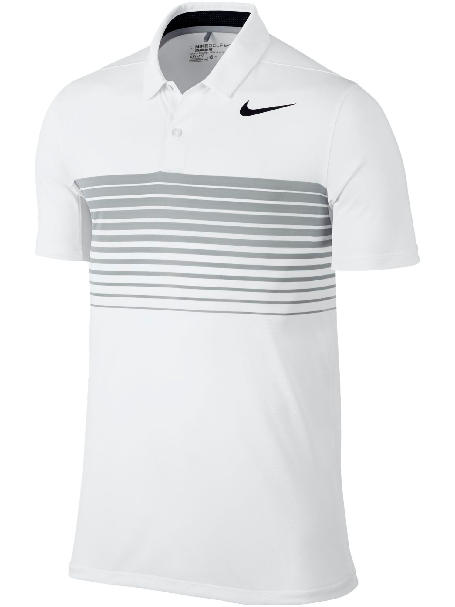 Men's Nike Mobility Speed Stripe Polo, White