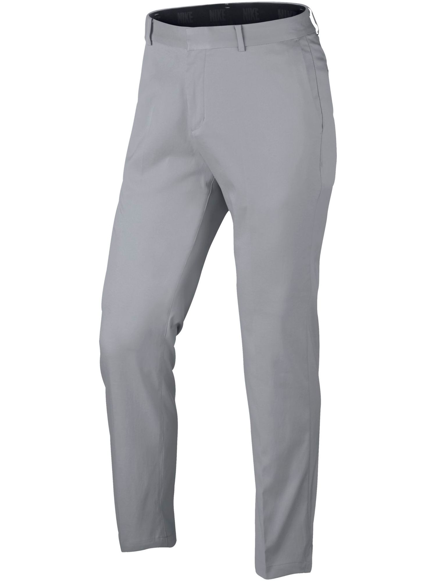 Mens Nike Flat Front Trousers Light Grey
