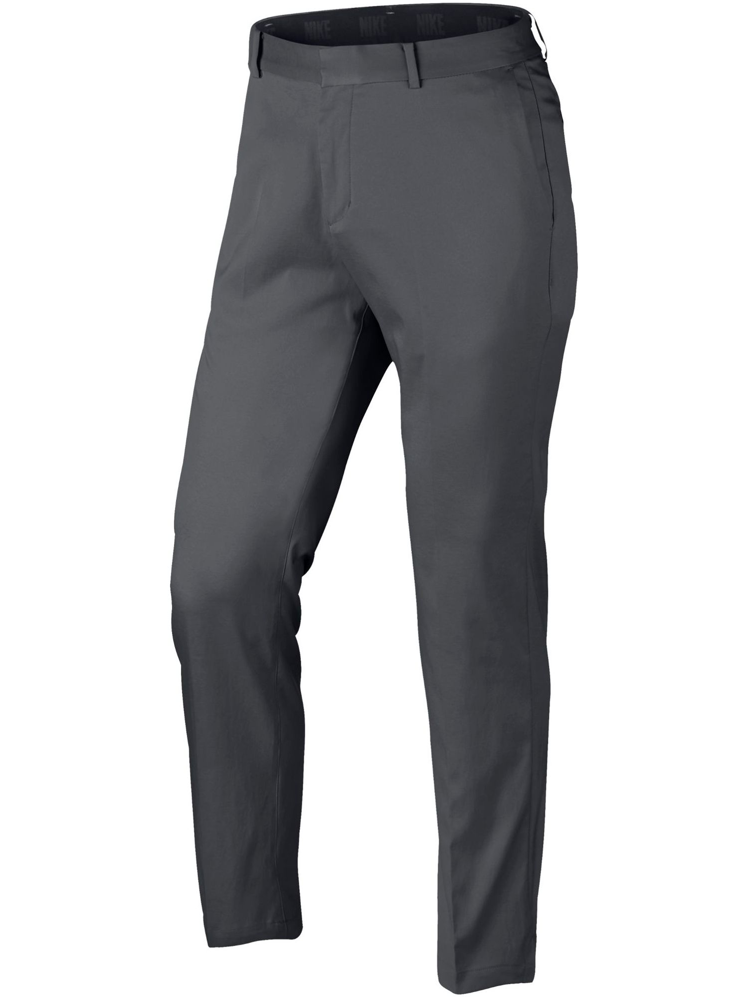 Mens Nike Flat Front Trousers Dark Grey