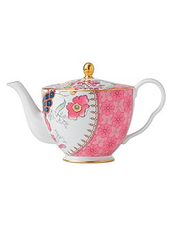Harlequin butterfly bloom teapot