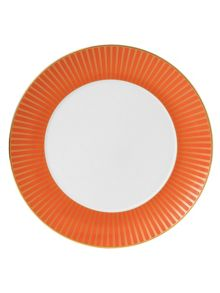 Wedgwood Palladian fine china orange accent plate 28cm