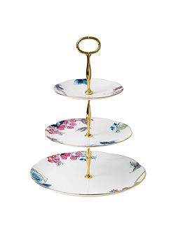 Butterfly bloom cake stand 3 tier