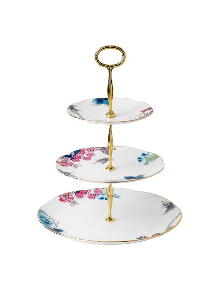 Wedgwood Butterfly bloom cake stand 3 tier
