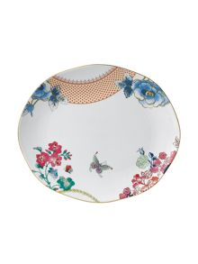 Butterfly bloom oval platter 33cm