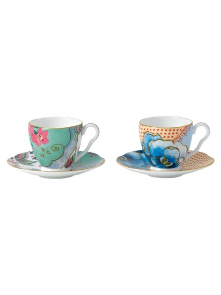 Wedgwood Butterfly bloom espresso cup and saucer