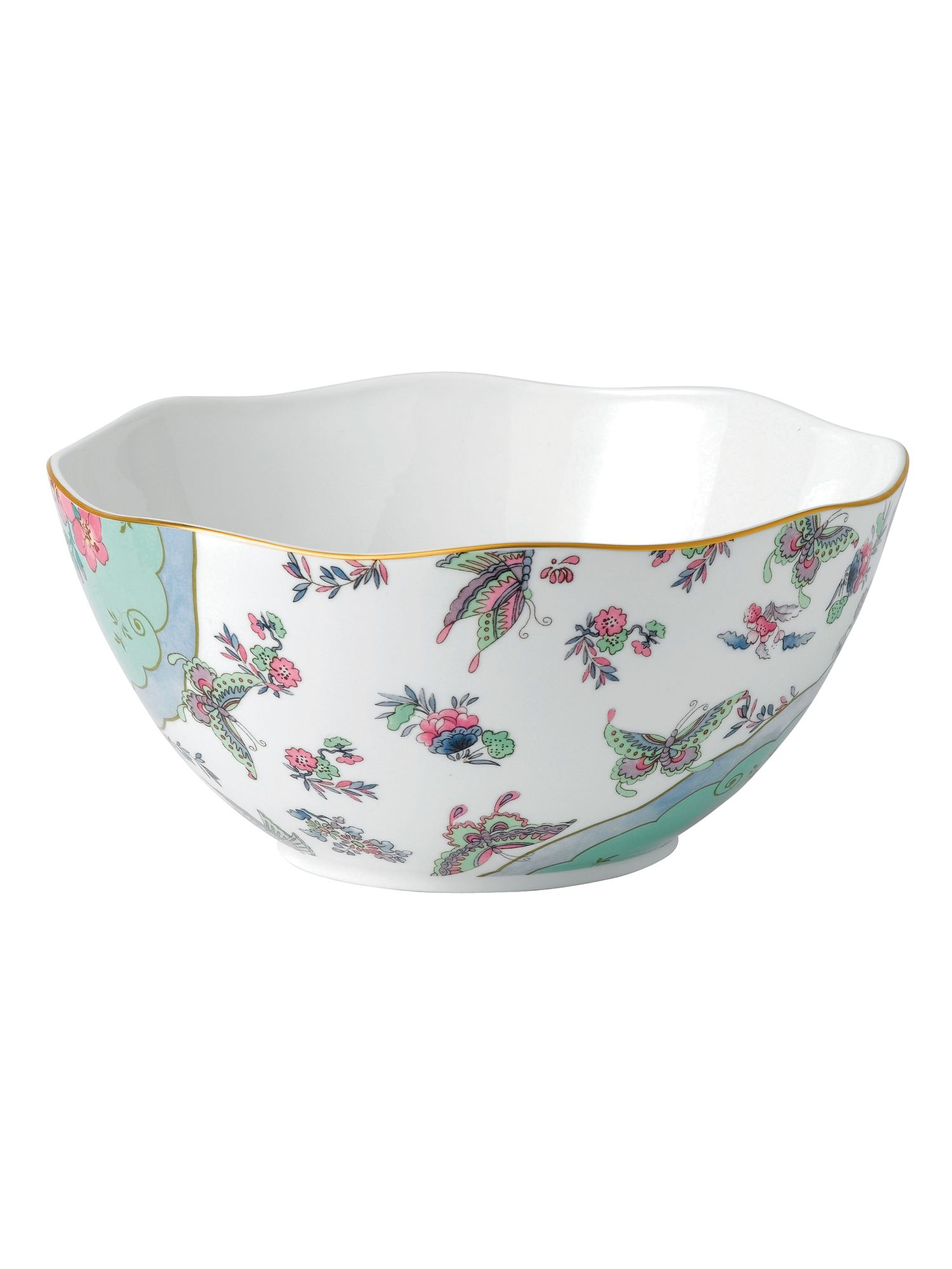 Butterfly bloom round bowl 25cm