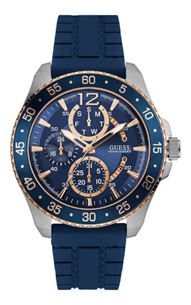 Guess W0798g2 men`s rubber strap sport watch