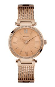 Guess W0638l4 ladies` bracelet dress watch