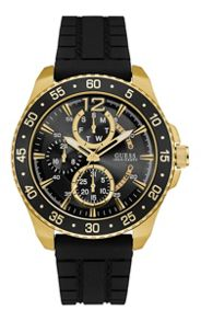 Guess W0798g3 men`s rubber strap sport watch