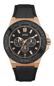 Guess W0674g6 men`s rubber strap sport watch