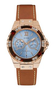 Guess W0775l7 ladies` leather sport watch